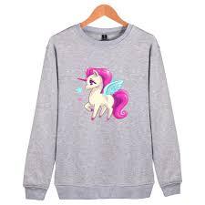 2017 Kawaii Unicorn Cute Printed Hoodie Sweatshirt Capless Women Men Tumblr Moleton Feminino Hip Hop Horse Clothing
