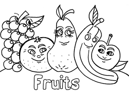 Awesome Collection Of Coloring Images Fruits And Vegetables About Template Sample