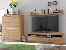 wohnwand pisa 32 eiche bianco massiv 3 teilig medienwand tv