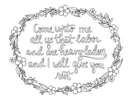Just What I In Come Unto Me Coloring Page
