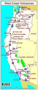 Map Major West Coast Volcanoes We Call This Home California State Road Pdf