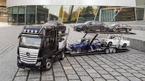 100 Mercedes Semi Truck Car Carrier Model Hauls Your 118Scale Collection