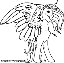 Fresh Unicorn With Wings Coloring Pages 65 Additional For Kids