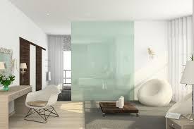 glaswand ideen tipps moderne glas elemente in der wohnung