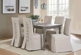 Muses Leg Dining Room Set W Parsons Chairs
