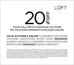 LOFT 20% Coupon For In-Store Or Online Shopping - The Budget Babe ... Best 25 Sherwin Williams Coupon Ideas On Pinterest Gallery Sports Authority Coupon Codes Drawing Art Gallery Dress Barn Coupons In Store Prom Wedding Tremendous Michaels Exceptional Today Fire It Up Grill With Bath Body Works Old Navy Online Car Wash Voucher Add Some Sparkle To Your Thanksgiving With Glittering Pottery Barn Teen Code Pornstar Gbangs Popular Kids Messaging Code La Mode To Spldent Free Session Myfreeproductsamplescom Printable Ideas On Bar Tables Promo For Macys