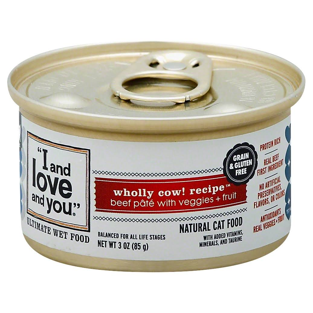 I And Love And You Wholly Cow Wet Food - 3 oz can