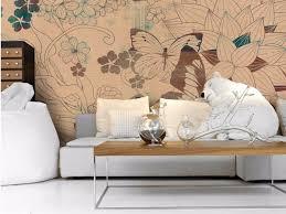 tapete im wohnzimmer inkiostro bianco 50 modelle