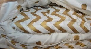 Cynthia Rowley Bedding Twin Xl by Anthology Gold Glam Metallic Chevron Dot Twin Twin Xl Comforter