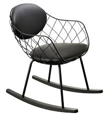 Rocking Chair Pina By Magis - Black Leather / Black Rockers - L 53 X H ... Innovative Rocking Chair Design With A Modular Seat Metal Frame Usa 1991 Objects Collection Of Cooper Hewitt Horse Plush Animal On Wooden Rockers With Belt Baby Glider Fresh Tar New Nursery Coaster Transitional In Black Finish Value Hand Painted Rocking Chairs Childs Rockers Hand Etsy Outdoor Wicker Legacy White Modern Marlon Eurway Gloucester Rocker Thos Moser Fniture Gliders Regarding Gliding Replica Eames Green Chrome Base Beech Valise Plowhearth