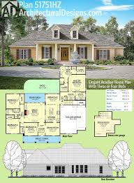 Plan HZ Elegant Acadian House Plan With Three or Four Beds