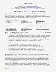 Quality Control Resume Best Of 22 Project Management Samples Example