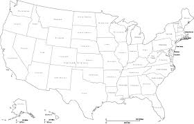 Transparent White Us Map Black Background United States Vector File Stock Throughout Outline