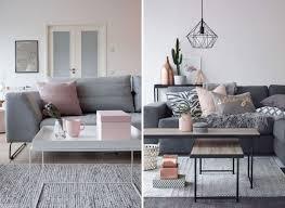 deko rosegold einrichtung in rosa und grau geometrische