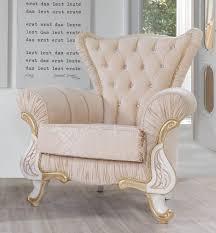 casa padrino barock sessel beige weiß gold 97 x 85 x h 105 cm edler wohnzimmer sessel mit glitzersteinen wohnzimmer möbel im barockstil