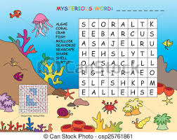 Game For Children Crossword Stock Illustration