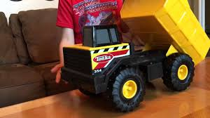 Toy Review Of Tonka Classics Mighty Steel Dump Truck - YouTube