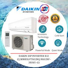 daikin 1hp inverter r32 q series ready stock fast shipping ftkg28q rkg28f 3wmy g1 daikin warranty malaysia