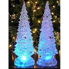Christmas Tree Amazon Prime by Amazon Com Lighted Christmas Trees Set Of 2 Color Changing Led