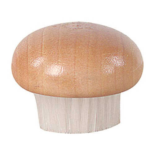 Fox Run Wood Mushroom Brush - Nylon Bristles