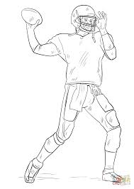 Football Player Coloring Page Free Printable Pages Book