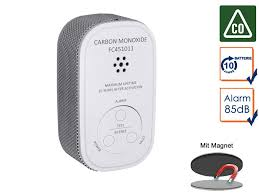 kohlenmonoxid melder mit 10 jahres batterie sensor co melder magnetmontage