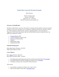 Retail Sales Associate Resume Objective Example