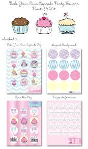 Bake Your Own Cupcake Party Favors Printables Diy Sprinkle Tags