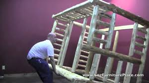 full over queen log bunk bed assembly how to assemble log bunk