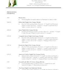 Ballet Dancer Resume Sample Dance For Audition College Interesting