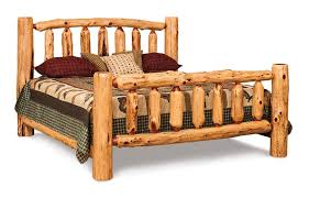 Log Cabin Bed Frames Rustic Red Cedar King From Dutchcrafters Amish Furniture Ideas