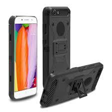 ZTE Heavy Duty Black Belt Clip Holster Kickstand Phone Case All Models