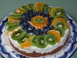 quark joghurt torte mit früchten