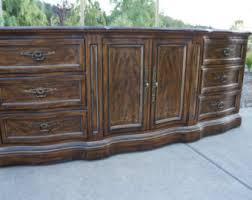 Drexel Heritage Dresser Mirror by Drexel Dresser Chest Media Console Vintage Regency Hollywood