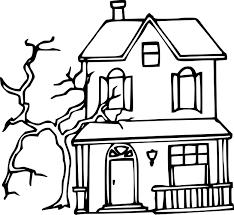 coloriage maison hantée à imprimer sur coloriages info