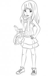 Lego Friends Coloring Pages Stephanie