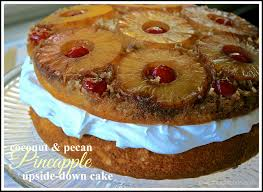 Double Layer Coconut Pecan & Pineapple Upside Down Cake