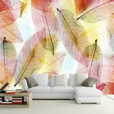 Abstract Art Transparent Colorful Leaf 3D Mural Wallpaper Living Room Backdrop Wall Interior Fashion Decor