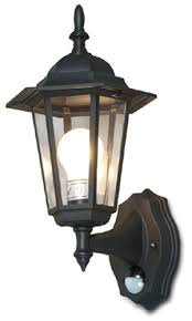 outdoor wall lighting system with motion sensor