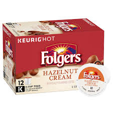 FolgersR Hazelnut Cream Flavored Coffee K CupR Pods
