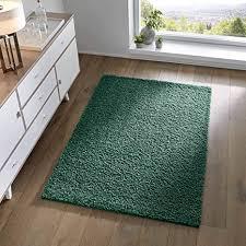 taracarpet shaggy teppich wohnzimmer schlafzimmer kinderzimmer hochflor langflor teppiche modern grün 120x170 cm