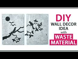 DIY Wall Decoration Ideas From Waste Material Room Decor Via Paper Cutting
