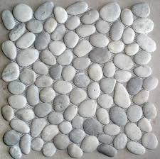 Sliced Pebble Tiles Uk by Grey Pebble Tile Tan Grey Mosaic Pebble Stone Wall Floor Tile