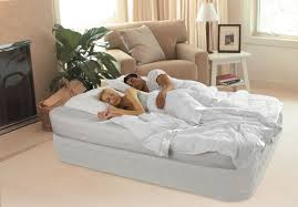 intex dura beam queen raised supreme air flow mattress bed built