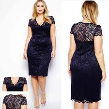 women plus size lace short sleeve party evening night gowns