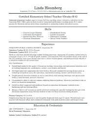 Resume Samples Of Physical Education Teacher And On A Examples Elementary Free Download School