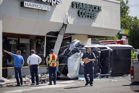 100 Truck Jumps 1 Killed 5 Injured When Truck Jumps Curb And Hits Starbucks Patrons