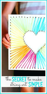 Best Classroom Crafts Images On Infant Kid Fun Simple Craft Ideas Heart String Art Teen Arts And Kids But