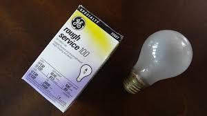 ge 100watt service incandescent light bulb
