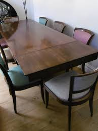 Art Deco Extending Dining Table 8 Chairs